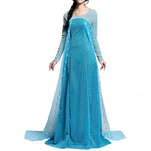 Daily Proposal AE4 Adult Elsa Snow Queen Dress