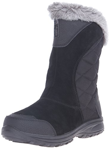 Columbia Women's Ice Maiden Ii Slip Snow Boot, Black, Shale, 8 B US