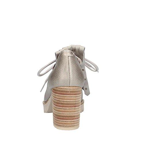 Argento Chiusa con CALLAGHAN Tacco 21921 Argento Scarpe Donna COwxS1q