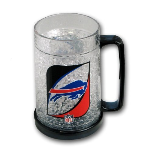 Buffalo Bills 16oz Crystal Freezer Mug by Sports Images, Inc. (Buffalo Bills 16 Oz Crystal)