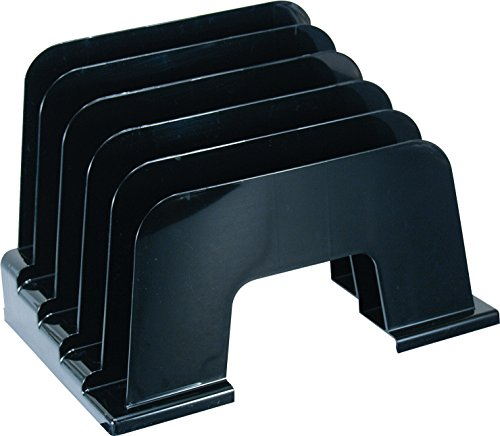 Officemate Large Incline Sorter, 5 Compartments, Black (21332)