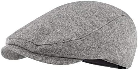 Gisdanchz 羊毛 ハンチング帽子 無地 キャンセル メンズ レディース 秋冬用