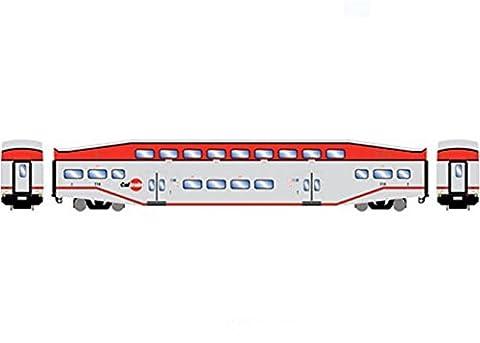 Athearn ATH25880 HO RTR Bombardier Cab Car, Caltrain 114 - Athearn Ho Brake