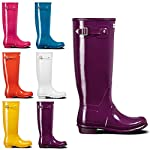 Womens Hunter Original Tall Gloss Waterproof Rubber Rain Boot Wellington