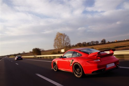 Amazon.com: Porsche 911 997 GT3 RS GT2 RS Red Left Rear Motion HD Poster Super Car Jumbo 48 X 32 Inch Print: Posters & Prints