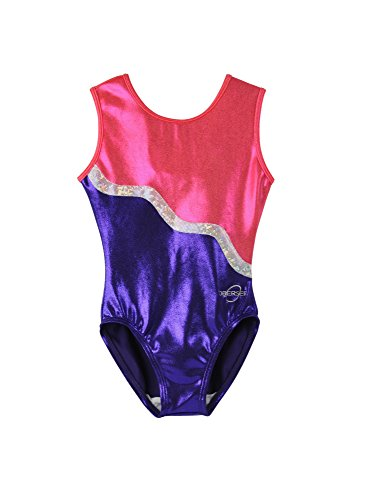 Obersee Girl's Gymnastics Leotard, Purple Ribbon, - Leotard Cxs