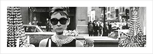 Audrey Hepburn Window Scene Breakfast At Tiffanys Holly Golightly Comedy Movie Film Poster - Hepburn Images In Sunglasses Audrey
