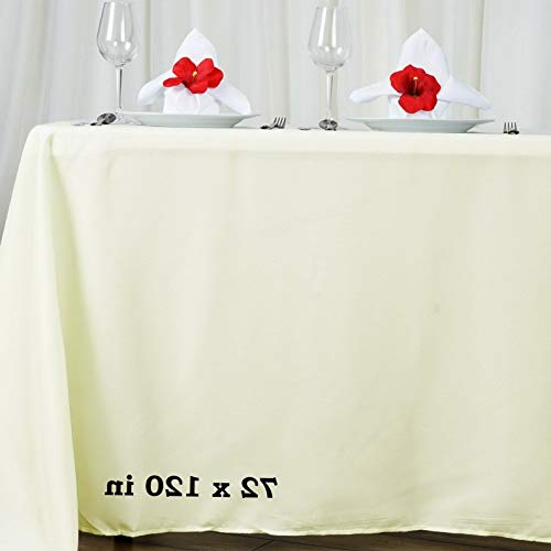 Mikash 5 Pk 72x120 in. Polyester Rectangle Seamless Tablecloth Wedding Party Banquet | Model WDDNGDCRTN - 21603 |