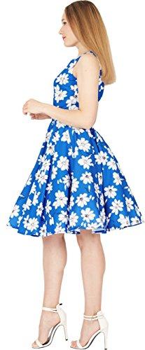 50 Años Cobalto Vintage Daisy Vestido Audrey' BlackButterfly Azul Iqwa66