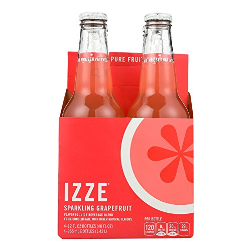 Izze Sparkling Juice - Grapefruit - Case of 6 - 12 Fl oz. by Izze