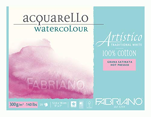 Fabriano Artistico 140 lb. Hot Press 25 Sheet Block 5x7