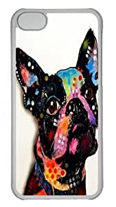 TYH - ipod Touch4 Case, ipod Touch4 Cases -boston terrier 2 PC case Cover for ipod Touch4 Transparent ending phone case