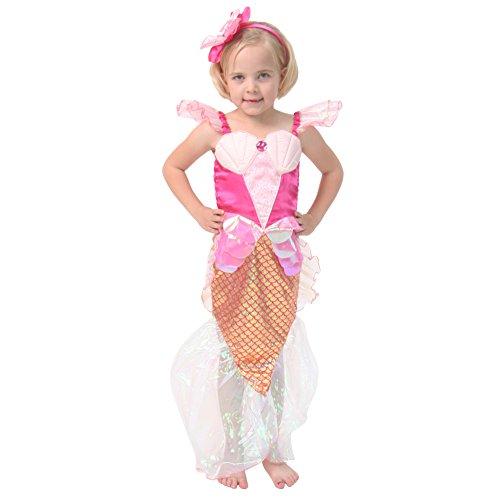 Costume Pink Mermaid Sequin (Pink Mermaid Dress Up Set, Size)