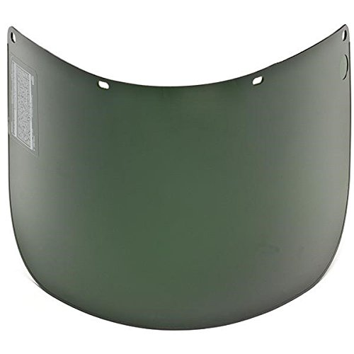 MSA Defender+ Face Shield, Propionate Molded, Shade 5, 15 1/2'' x 8'' x 0.060'' (10 Pack)