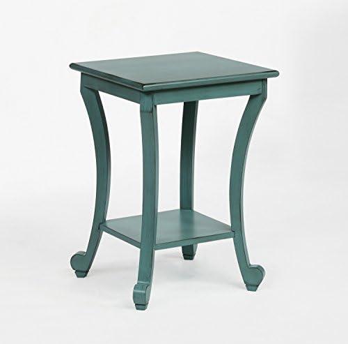 Crown Mark Claire Chairside Table Aqua