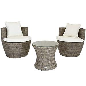 Charles Bentley 2 Seater Bistro Rattan Garden Furniture
