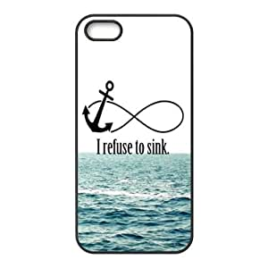 I Refuse to Sink Design Solid Rubber Customized Cover Case for iPhone 5 5s 5s-linda472