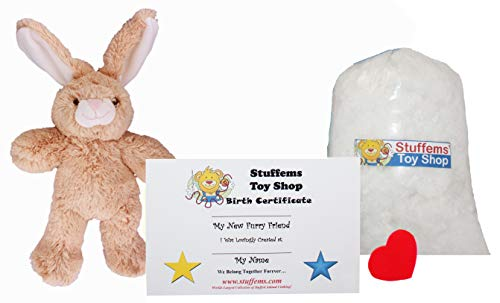 Make Your Own Stuffed Animal Mini 8 Inch Floppy Ear Bunny Kit - No Sewing Required! -