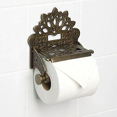 Vintage Toilet Roll Holder Victorian Novelty Unusual Edwardian Antique Bronze (Halloween Denver Co)