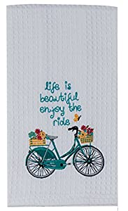 Kay Dee Designs Kitchen Embroidered Waffle Towels, Enjoy The Ride