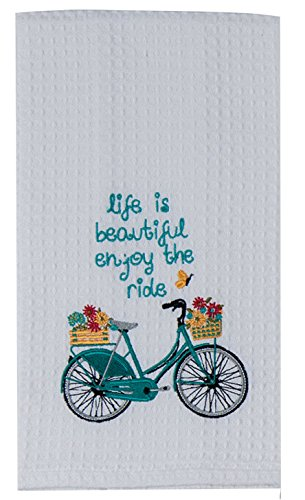 Kay-Dee-Designs-Kitchen-Embroidered-Waffle-Towels-Enjoy-The-Ride