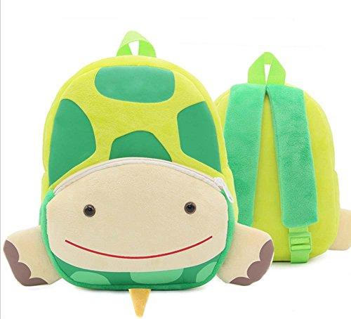 Kinder Schulrucksack, Kindergarten Cartoon Rucksack Tiermuster Rucksack für Kleinkind Jungen und Mädchen (verschiedene Tierformen) Schildkröte