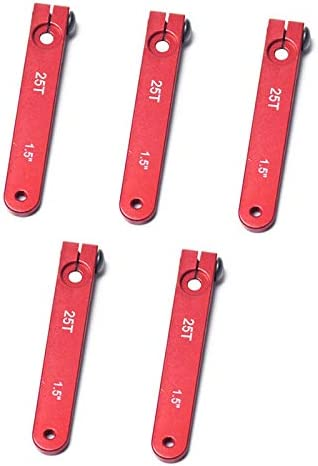 Rosso wivarra 5PZ Braccio Servo nel Alluminio 25T per Auto RC 1//8 1//10 2WD 4WD