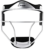 Champion Sports Fielder's Face Mask Softball Fielder's Face Mask, Silve