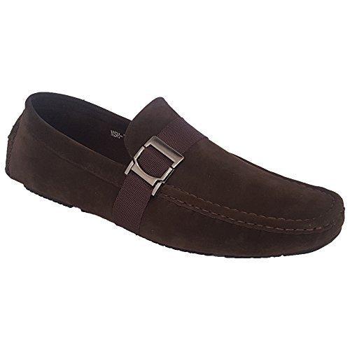 habillé 7024 Classique Semelle Mocassins Hommes Neuf Mocassins Mariage Enfiler Marron Chaussures Look Suédé à Bateau Cuir Caoutchouc 7aH7rqxw