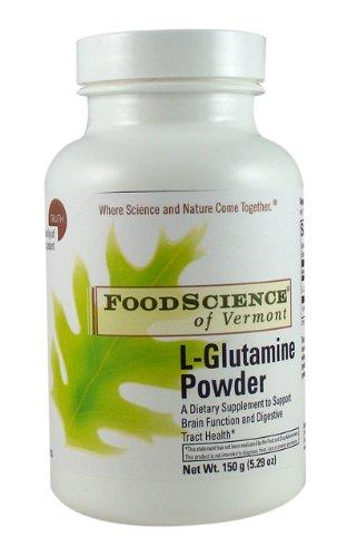Sciences de l'alimentation du Vermont L-Glutamine Powder Portion 5000 mg, 150 gram
