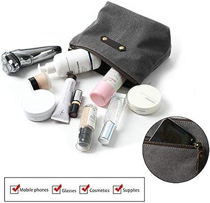 Amazon.com: Bolsa de maquillaje de lona grande – Kit de Dopp ...