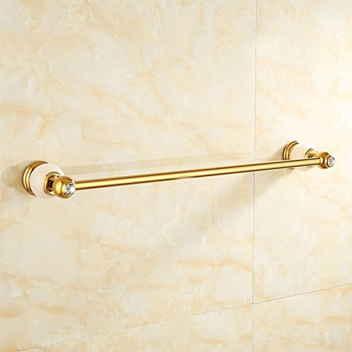 Znzbzt copper plated jade towel rack bathroom hardware mounted in gold antique single lever towel rack, and luxury white jade)