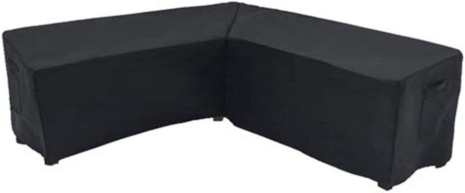 V-Shaped Sectional Sofa Cover, Patio Sofa Cover, Outdoor Waterproof Sectional Furniture Cover, Garden Couch Protector (300x300x98cm)