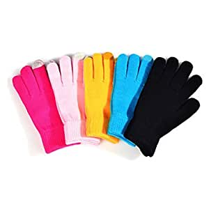 TY Solid Color Woolen Touch Gloves For iPhone , Blue