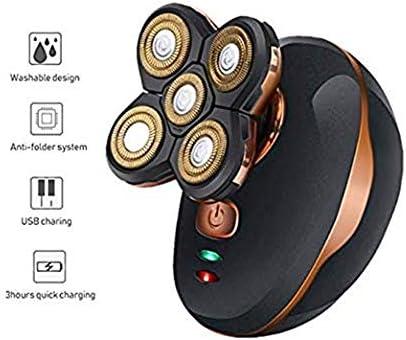 Afeitadoras de recarga USB con 5 cabezales flotantes, máquina de afeitar rotativa a prueba de agua IPX7 / mini cortadoras de cabello, kit de aseo/recortadora de barba: Amazon.es: Belleza