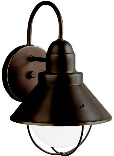 Kichler 9022OZ Seaside Outdoor Wall 1-Light, Olde Bronze