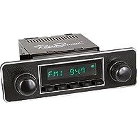 RetroSound LB-502-36-96-B Long Beach Radio for Classic European Vehicles, 1 Pack