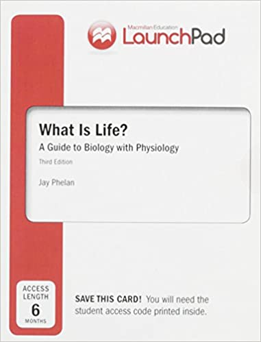 Amazon launchpad for what is life a guide to biology with launchpad for what is life a guide to biology with physiology six month access 3rd edition fandeluxe Image collections