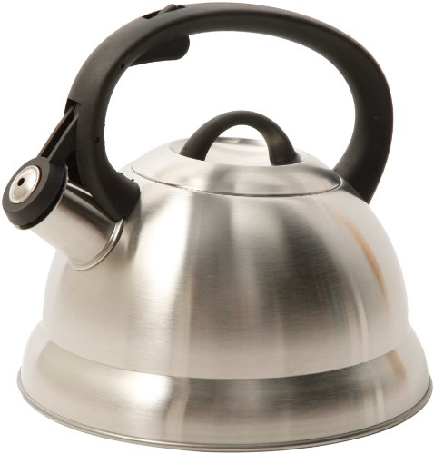Mr. Coffee 91407.02 Flintshire Stainless Steel Whistling Tea Kettle, 1.75-Quart, Silver by Mr. Coffee