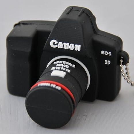 USB01-1 16gb Goma cámara de Fotos Tipo Reflex Canon: Amazon.es ...