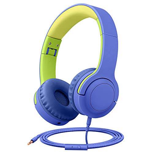 Picun Q2 Kids On-Ear Headphones Foldable Design with Stereo Tangle-Free 3.5mm Jack Wired Cord Headset for Children/Teens/Boys/Girls/Smart Phones/School/Kindle/Airplane Travel/Plane/Tablet