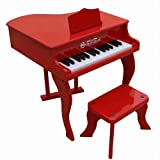 Schoenhut Learn-to-Play Baby Grand Toy Piano With 30-Keys and Patented Play-by-Color Tri-Play Learning System