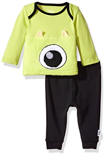Disney Baby Boys' Monsters Inc 2-Piece Pant Set, Black, 0-3 Months (Monsters Inc Crib Set Babies R Us)