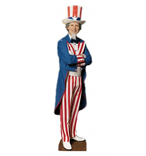 Uncle Sam - Advanced Graphics Life Size Cardboard - 4th July Party Of Music