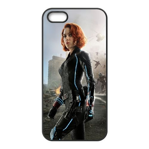 Black Widow Age Of Ultron coque iPhone 5 5S cellulaire cas coque de téléphone cas téléphone cellulaire noir couvercle EOKXLLNCD22257