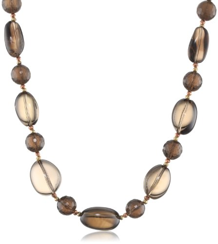 Smoky Quartz Nugget Beads - 9