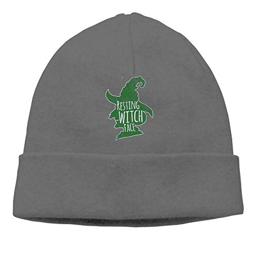 Resting Witch Face Green Womens Beanie Hats Daily Cap]()