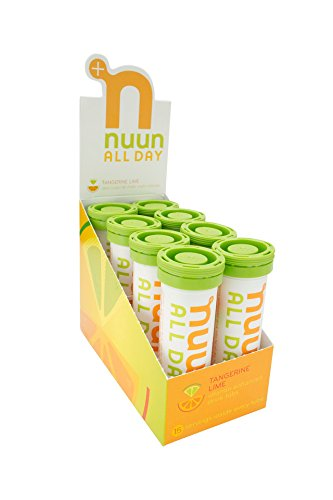 Nuun All Day: Hydrating Vitamin & Electrolyte Tablets, Tangerine Lime, Box of 8 Tubes