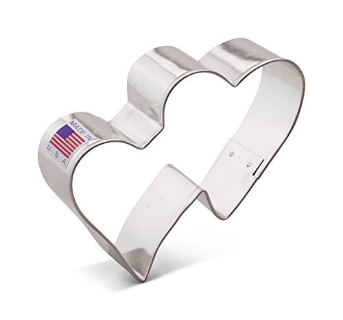 Ann Clark Double Hearts Cookie Cutter - 3.75 Inches - Tin Plated Steel