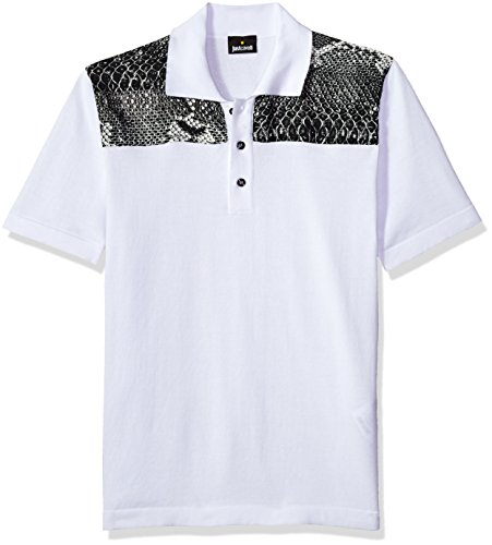 Just Cavalli Men's Classic Polo, White, - Cavalli Just Men